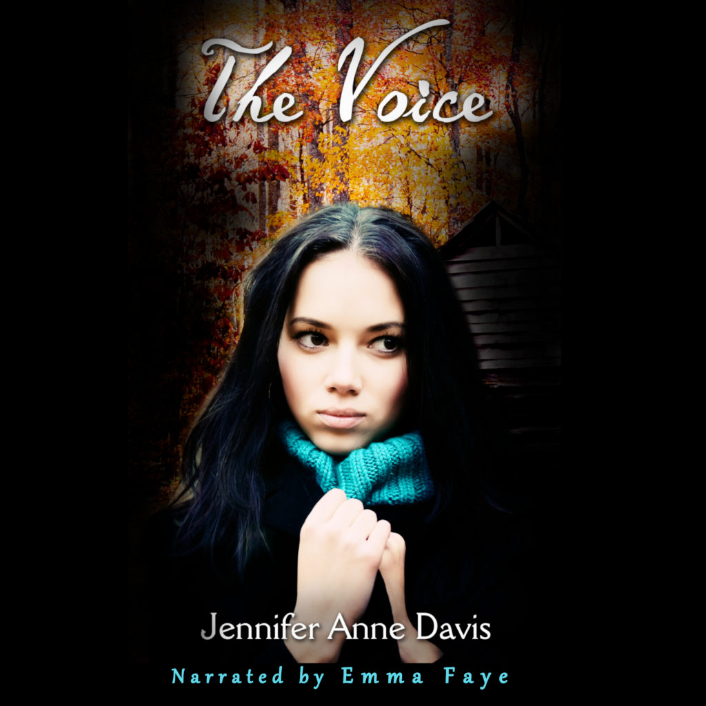 The Voice book cover, sullen looking girl holding hands in front of neck